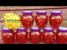 Dulceata de Gutui Pickling Cucumbers, Mason Jar Wine Glass, Canning Recipes, Salsa, Deserts, Food And Drink, Vegan, Baking, Tableware