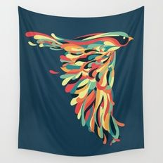 Downstroke Wall Tapestry