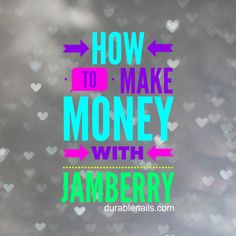 "I would like to share with you why I chose Jamberry. It was because I like to do my nails. Simple. Easy. That is why I joined. But, what I quickly learned, you can earn major bucks from these ""nail stickers"". I am here to tell you HOW to make money. Is it going to come at you? Maybe. But, it really comes down to WHY are you in it? My ""Why"" has DRASTICALLY changed. Now, I am wanting to help financially (I wasn't expecting to earn a full time income), have a sence of leadership, and have some…"