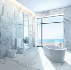 These new porcelain tiles look like real marble!