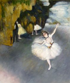 """Edgar Degas was famous for painting ballet dancers from the Paris Opera House. These pieces of art would show the elegant dancers known of the working class. Much of the men you see in the paintings where the wealthy patrons who """"owned"""" much of the dancers and held relationships with them."""