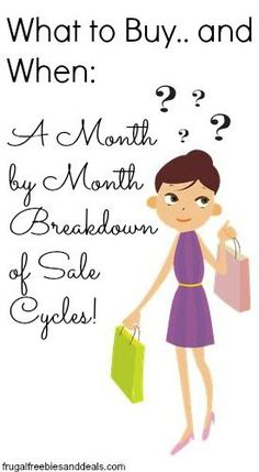 """You can save money by """"shopping seasonally""""..Find out the best months to buy your stuff! #money #savemoney"""