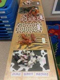Animal pattern matching for toddlers jungle animals Toddler Classroom, Preschool Classroom, Classroom Activities, In Kindergarten, Preschool Activities, Dear Zoo Activities, Preschool Jungle, Preschool Science, Animal Activities