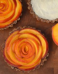 Pretty! Peach Tarts with Ginger and Coconut