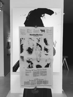 FotoFoam artist Jesse Draxler on the cover of today's New York Times Sunday Review. Come by @fotofoam to see Draxler's work on exhibition. #art #nyc #blackandwhite
