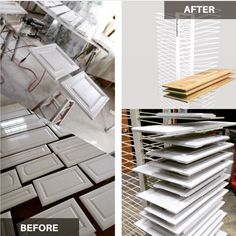 Best Cabinet Door Spraying and Drying Rack Painting Cabinet Doors, Painting Cabinets, Paint Booth, Art Studio At Home, Drying Racks, Quality Cabinets, Paint Drying, Home Projects, Painted Furniture