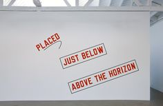 Art Review: Lawrence Weiner at Regen Projects II | Culture Monster ...