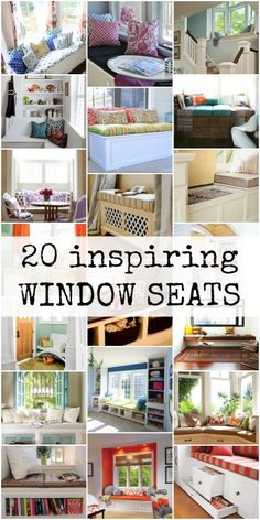 Inspiring Window Seats via @Remodelaholic #AllThingsWindows #bench #windowseat