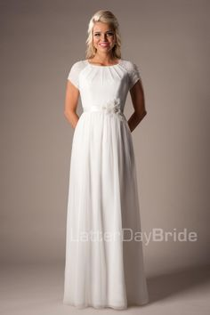 A variety of modest wedding dresses, including Jill Duggar's wedding dress! | themodestmomblog.com