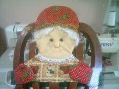 Forro Mamá Noel Para silla del comedor