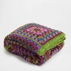 Manta Crochet Cuadros