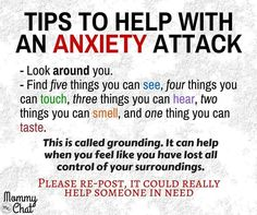 Tips for anxiety attacks