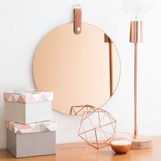Miroir rond teinté D 30 cm SMOKE