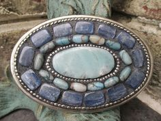 For Fall 2014, I am excited to introduce my newest obsession to my shop-- ornate belt buckles! Decorated with semi precious stones, vintage jewels....slashKnots, Etsy!