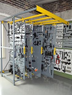 Complete tool storage bay, let us make one for you! Complete tool storage bay, let us make one for you! Garage Tool Storage, Workshop Storage, Workshop Organization, Garage Tools, Garage Shop, Garage Workshop, Shed Storage, Garage Organization, Toolbox Organizer