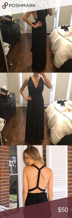 Infinity wrap dress/ multi wrap dress NWOT - never worn, black infinity dress. I'm 5'3 and it just hits the ground without heels Dresses Maxi