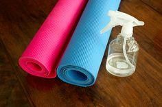 Homemade Yoga Mat Cleaner - Life at Cloverhill Uses For Listerine, Yoga Mat Cleaner, Restorative Yoga, Mouthwash, Yoga For Men, At Home Gym, Tea Tree Oil, Best Yoga, Cleaning Hacks