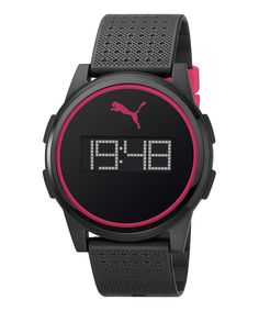 8e81e48b4656 This Black   Pink Flat Coaster Watch - Women by PUMA is perfect!   zulilyfinds
