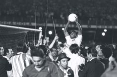 Pele after his 1000th goal, 1969 | Vintage Sports Photography