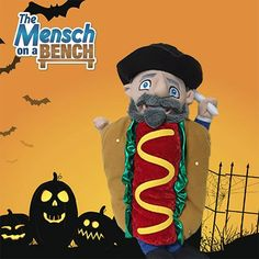 This costume is making Moshe hungry. | Halloween | Mensch on a Bench