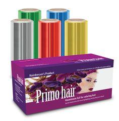 """Αλουμινοχαρτο κομμωτηρίου """"Primo Hair""""    Eιδικά επεξεργασμένο για ανταύγειες και βαφές μαλλιών σε διαστάσεις 12,5cm x 50/100cm χρώματα και πάχη14/15my σε ρολό που εγγυάται σταθερό αποτέλεσμα σε κάθε επεξεργασία μαλλιών. Hairdresser, Venus, Hair Color, Haircolor, Hair Dye, Hair Coloring, Barber, Barber Shop, Venus Symbol"""