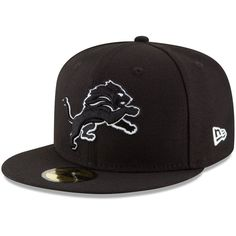 Detroit Lions New Era B-Dub 59FIFTY Fitted Hat - Black