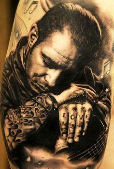 Andy Engel Tattoo - Studio für fotorealistische Tattoos in Markststeft Blue Tattoo, Real Tattoo, Black Tattoos, Body Art Tattoos, I Tattoo, Portrait Tattoos, Tatoos, Andy Engel Tattoo, Tattoo Studio