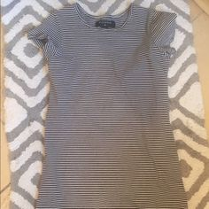 Short striped dress This dress is in very good condition. It has navy and white stripes. It is VERY short, so I recommend someone who is very short to buy this. I am 5'2 and this is still short on me. Urban Outfitters Dresses Mini