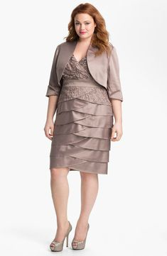 Adrianna Papell Charmeuse Surplice Dress Buff size 16W $298 #60 NWT #AdriannaPapell #Formal