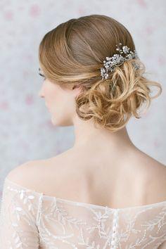 Wedding Hair Piece ,Swarovski Opal Hair Comb ,Large Bridal Headpiece, Pearl Accented Haircomb, Crystal Sprays Hair Accessories by LavenderByJurgita on Etsy https://www.etsy.com/listing/196073093/wedding-hair-piece-swarovski-opal-hair