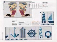 Bordados da Dani: barcos,ancoras,marinheiros
