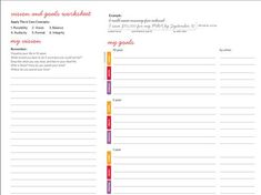 Image result for worksheets to fill out with vision boards