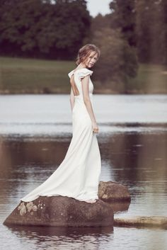 """""""The dress should be a girl's only make-up"""" - These words define Delphine Manivet's vision and her natural recent move from Bridal to Couture."""
