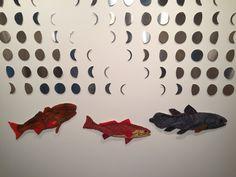 "Kathryn Hunter, ""Lunar,"" 2015, laser cut steel, sewing, embroidery, mixed media"