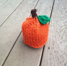 Pumpkin Baby or Child Hat- Perfect for  Fall and Thanksgiving- photography prop on Etsy, $16.00