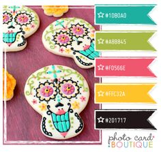 "Color Crush Palette · 4.10.2012 wouldn't this idea be great for ""Day of the Dead cookies???..."