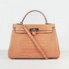 Wholesale Réplique Hermes Kelly 32CM Sac Big Crocodile Argent Orange -  €322.00   réplique sac a main, sac a main pas cher, sac de marque   kelly  hermes prix ... 4b38eec7426