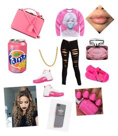 """""""Bubble-Gum"""" by jus-slay on Polyvore featuring Forever 21, NIKE, Mark Cross, adidas and Gucci"""
