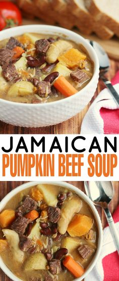 Selecting The Suitable Cheeses To Go Together With Your Oregon Wine This Jamaican Pumpkin Beef Soup Is Filled With Dumplings, Jamaican Pumpkin and Beef. Ideal For A Delicious And Filling Family Dinner Jamaican Soup, Jamaican Cuisine, Jamaican Dishes, Jamaican Recipes, Beef Recipes, Soup Recipes, Cooking Recipes, Healthy Recipes, Jamaican Dumplings