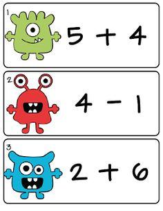 First Grade Fever! omg thats sos cool Kindergarten Math Activities, Fun Math, Math Resources, Teaching Math, Preschool Ideas, Learning Activities, Teaching Addition, Math Addition, Addition Games