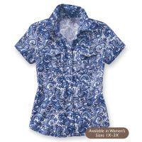 Blues Paisley Shirt from backinthesaddle.com