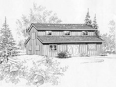 StableWise Gallery - Lancaster two or three stall barn illustration