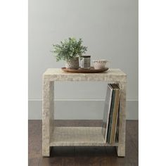 Shop for East At Main's Yutan Off-White Square Wood and Capiz Accent Table. Get free shipping at Overstock.com - Your Online Furniture Outlet Store! Get 5% in rewards with Club O!