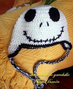 Gorro crochet calavera - este é para o joão mas tenho de conseguir um cós diferente... é p o natal