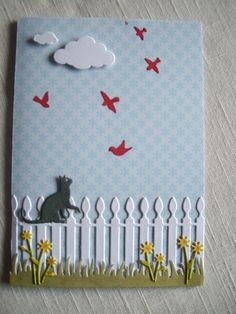 Memory Box Flying Birds, Curious Cat, Picket Fence, Wildflower Patch