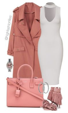 """"""":"""" by highfashionfiles ❤ liked on Polyvore featuring MANGO, Yves Saint Laurent, Jeffrey Campbell, Rolex and Lorraine Schwartz"""