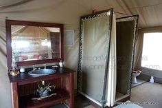 Linyati Bush Camp - Linyanti Safari - Picasa Web Albums Two Twin Beds, Flush Toilet, Comfortable Sofa, King Size, Albums, Safari, Tent, Furniture, Home Decor