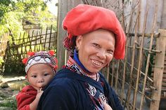 Red zao people, taphin village