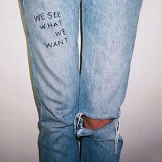 we see .