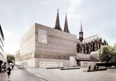 Staab . Historische Mitte . Köln  (0 1) render plint sokkel claustra museum compositie gevel plein